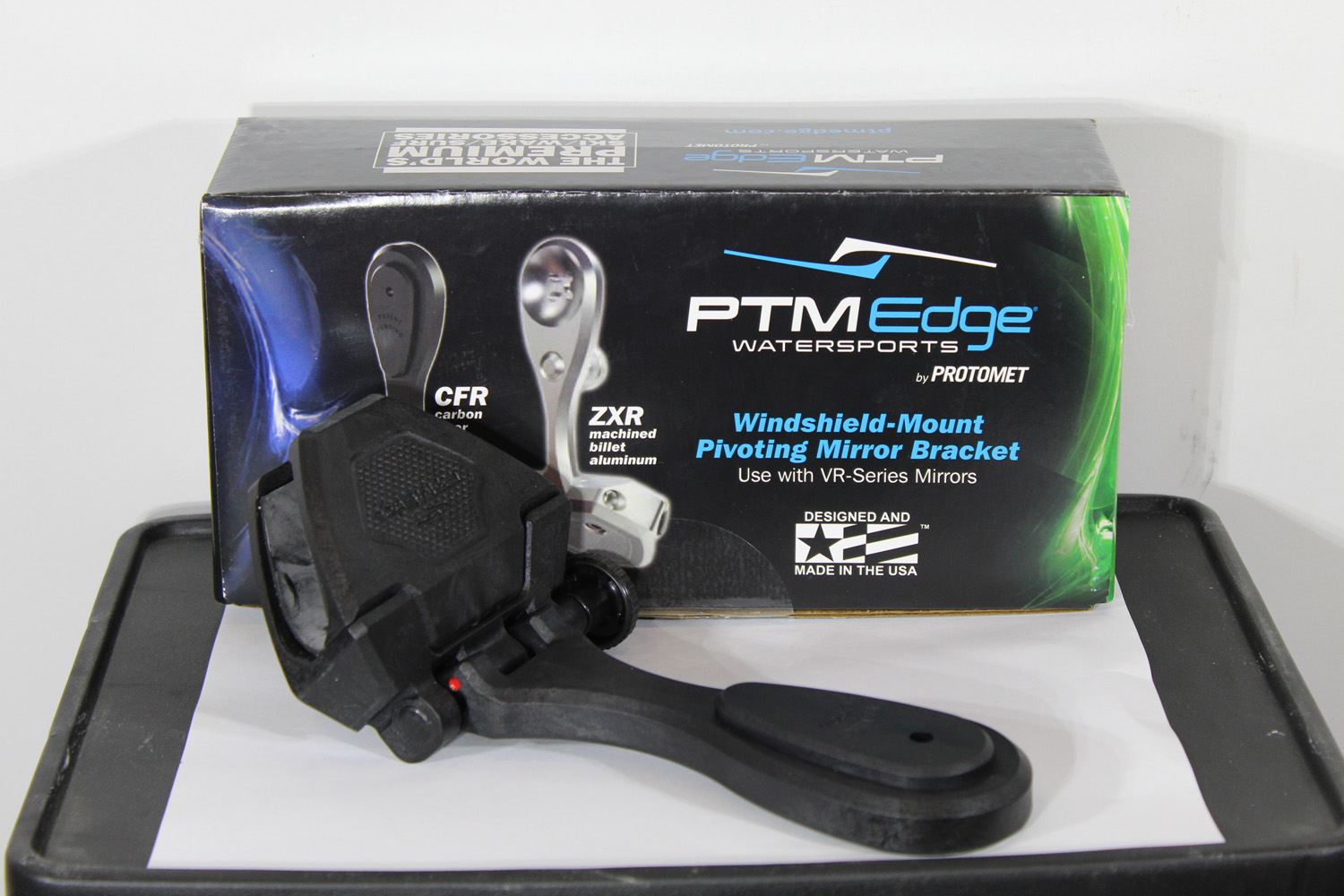 PTM Edge ZXR-200 Mirror Bracket (Black Billet Aluminum)