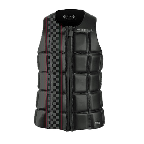 2016 O'neill Checkmate Front Zip Competion Vest (Oneill Vest Size: Medium, Oneill Vest Color: Black)