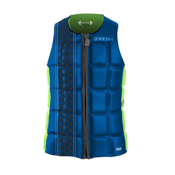 2016 O'neill Checkmate Front Zip Competion Vest (Oneill Vest Size: X-Large, Oneill Vest Color: Dayglow)